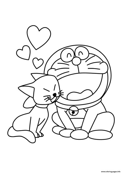 pages of doraemon cat and doraemon s18bf8 coloring pages printable