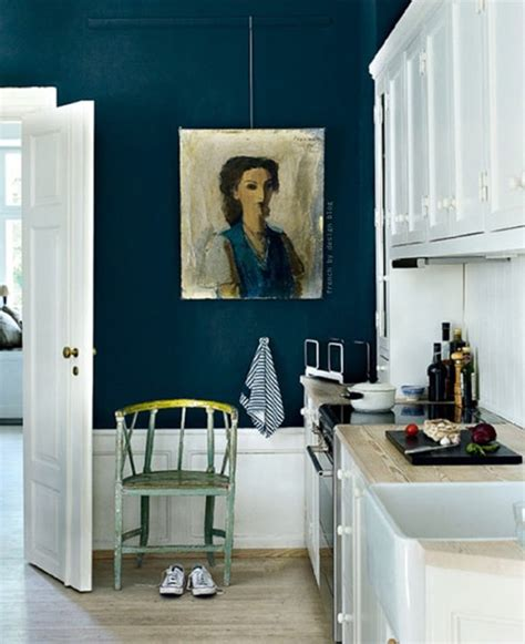 Dark Blue Kitchen Walls by Kitchen Colors Dark Teal Walls Kitchen Inspiration