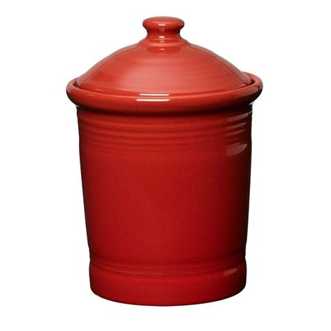 small storage canister or cookie jar 1 quarts in scarlet