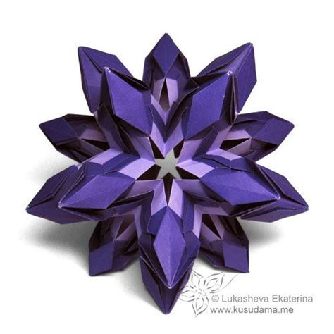 Modular Origami Kusudama - kusudama me modular origami on paper