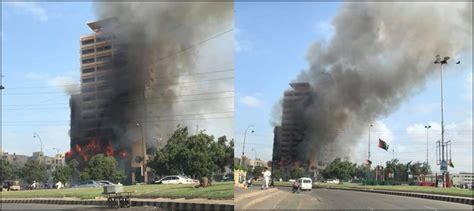 fire boat basin fire erupts at karachi s boat basin restaurant