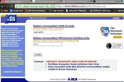bca user id cara transfer ke sesama rekening bca melalui klikbca