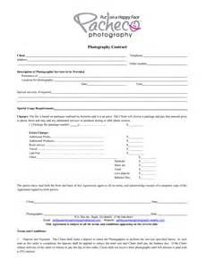 Photographer Contract Template by Photographers Contract Template Ebook Database