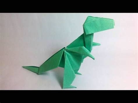 Why Was Origami Created - how to make an origami t rex created by montroll http