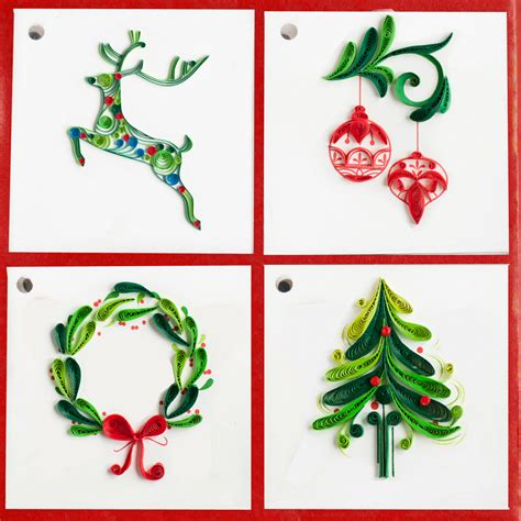Card Gift Tags - gift tag christmas gt303 quilling card