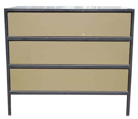 George Nelson Steel Frame Dresser by Mid Century Modern George Nelson Steel Frame Dresser At