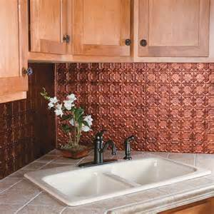 Copper Tile Backsplash For Kitchen Kitchen Amp Dining Metal Frenzy In Kitchen Copper