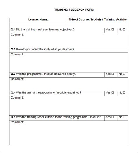 feedback template 5 hr feedback forms hr templates free premium