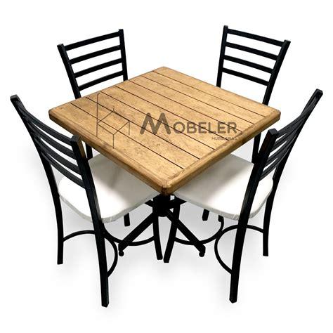 mesa de madera sillas  restaurante bar cafeteria lounge  en mercado libre