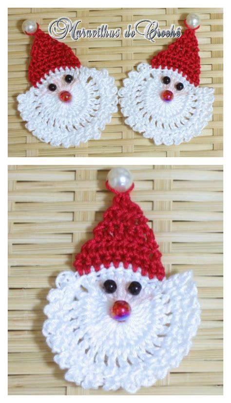 ornament patterns free santa ornament free crochet pattern