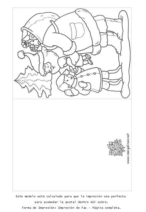 imagenes tarjetas navideñas para colorear tarjetas postales de navidad para imprimir y colorear lamina 3