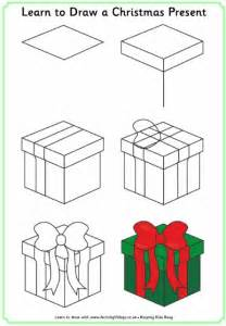 learn to draw a christmas present drawing pinterest