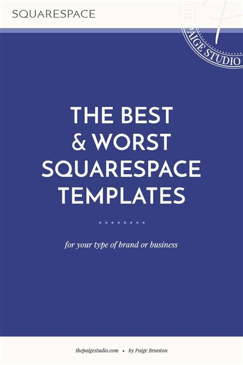 The Best Worst Squarespace Templates Squarespace Pinterest Website Templates And Design Best Squarespace Template For Writers