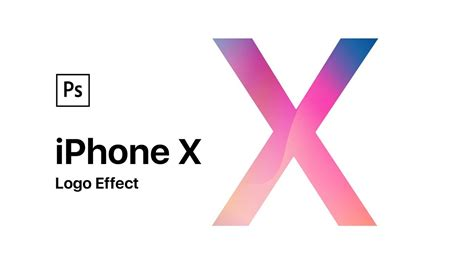 tutorial iphone x photoshop tutorial apple iphone x logo effect youtube
