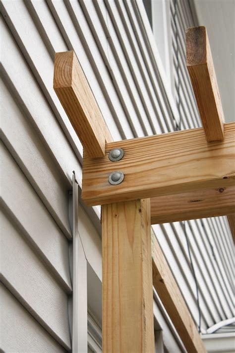 How To Attach Pergola To Deck by Correcting A Wobbly Pergola Tightening Bolts Made Remade