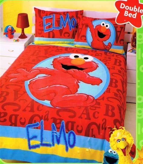 elmo bedding street elmo alphabet double full bed quilt duvet cover set