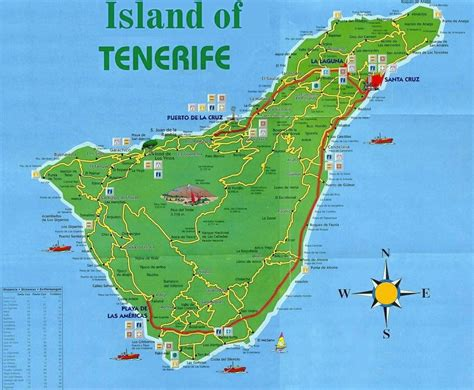 tenerife on a world map tenerife tourist map tenerife mappery