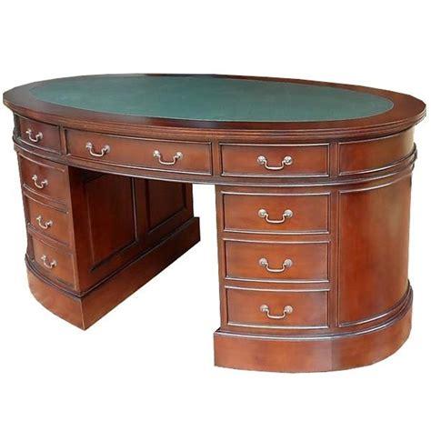 bureau style anglais bureau ovale style anglais acajou massif witton meuble de
