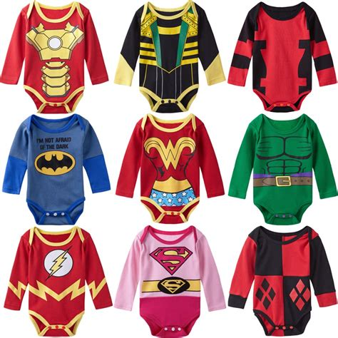 Promo Sleepsuit Superbaby Motif Batman Superman baby boy bodysuit sleeves deadpool