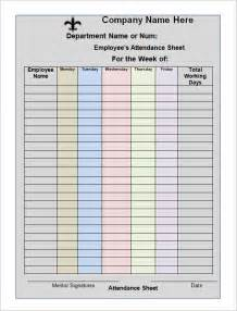 employee attendance record template attendance sheet templates 10 free documents