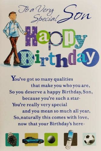Birthday Quotes For A On Birthday Son Birthday Card