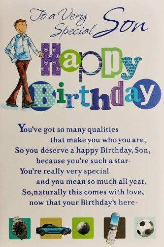 printable birthday cards for a son son birthday card