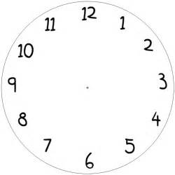 Clock Template by Clock Template For Clipart Best