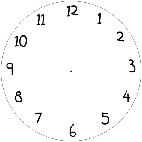 clock template for kids clipart best