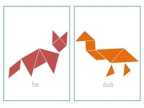 printable animal tangrams free tangram animals coloring pages