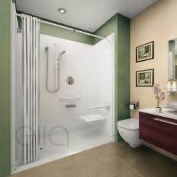 wheelchair accessible roll in shower kits platinum bath