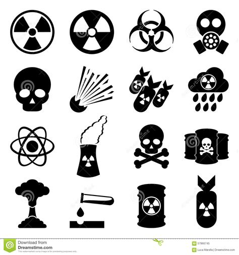 biohazard and nuclear icon set stock vector image 57866745