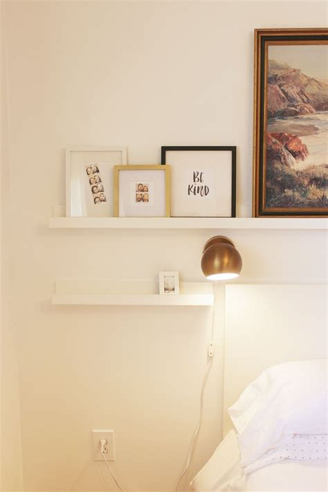 narrow picture ledge how to decorate a bedroom simply and with style