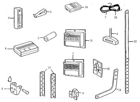 Arage Door Opener Parts - sears craftsman garage door opener parts list dandk