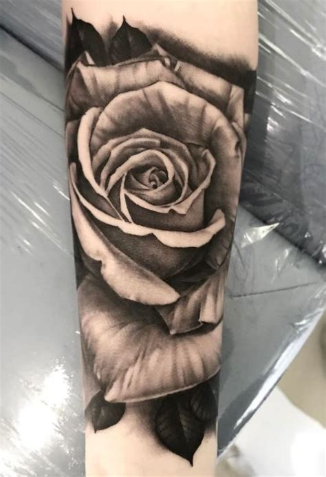 black amp gray rose tattoo inkstylemag