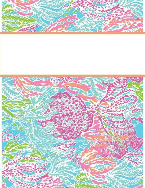 cool binder cover templates printable binder cover templates lilly pulitzer binder