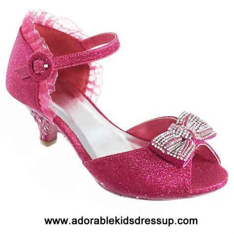 high heels  kids fushia girls high heel shoes