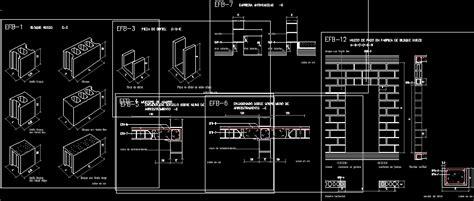 blocks  walls dwg detail  autocad designs cad