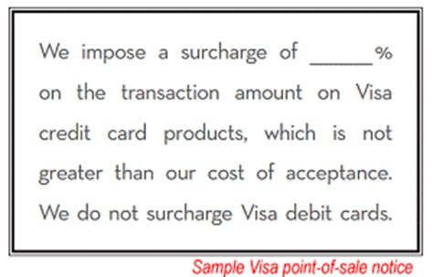 Credit Card Disclosure Template Consumer World Credit Card Surcharges