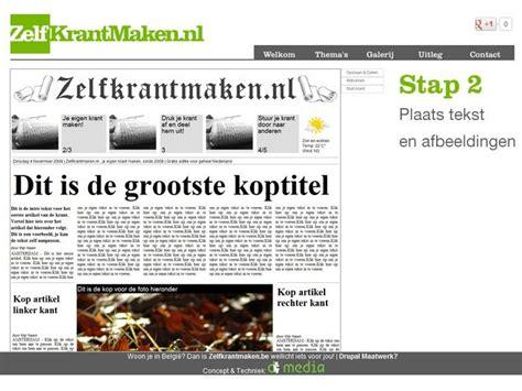layout krantenartikel zelfkrantmaken nl eenvoudig zelf krant maken gratis en