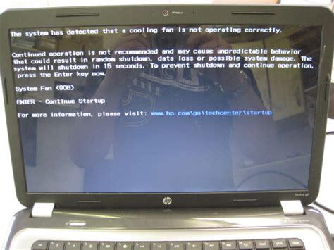 Fan Laptop Hp how to fix system fan 90b error on a hp pavilion g6