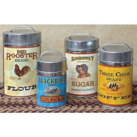 geekshive cwi gifts vintage canisters food safe set of 4