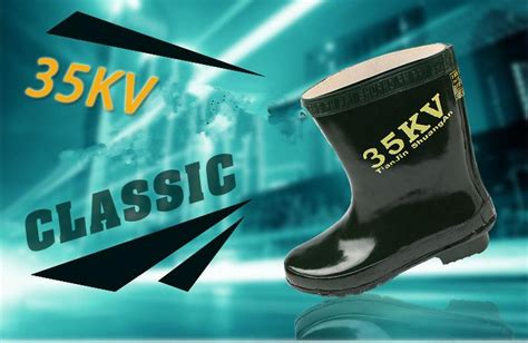 high voltage rubber boots 35kv high voltage insulating rubber safety boots with