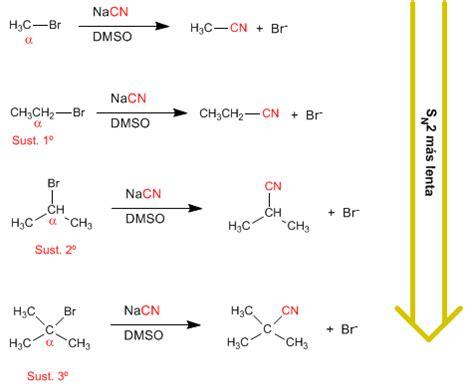 cadenas carbonadas ejemplos resueltos sustrato en la sustituci 243 n nucle 243 fila sn2