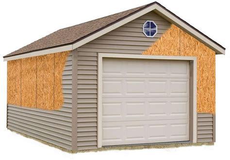 barns greenbriar  wood storage garage shed kit