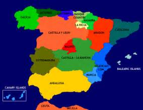 map of spain and regions all about spain the regions