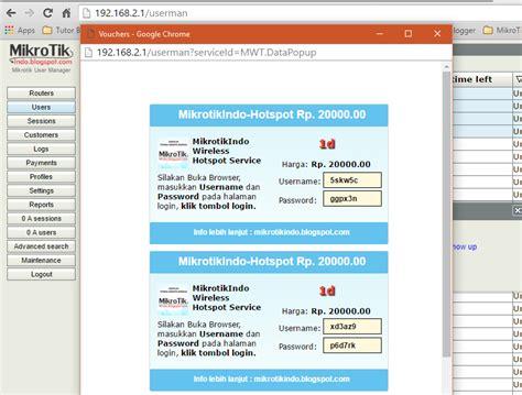 cara mudah membuat hotspot mikrotik cara membuat voucher hotspot mikrotik via user manager