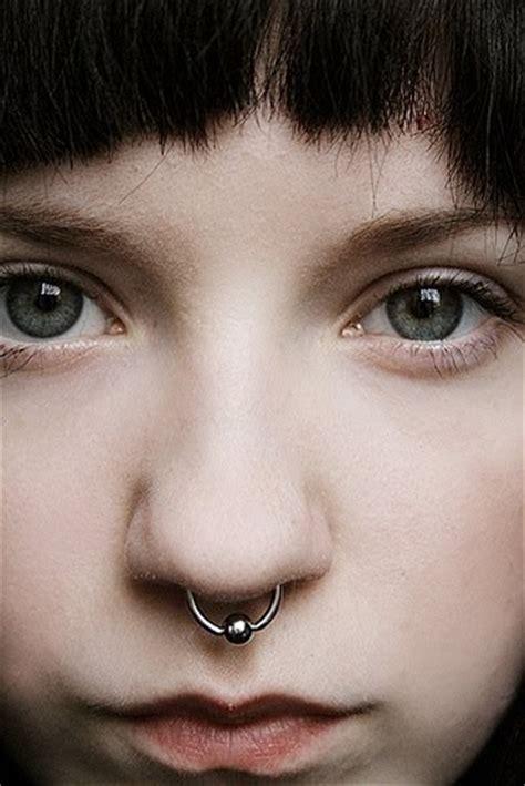 silver bead ring septum piercing
