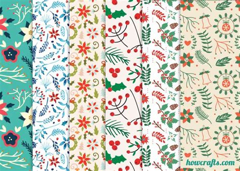 printable wrapping paper floral howcrafts 6 floral christmas wrapping papers howcrafts
