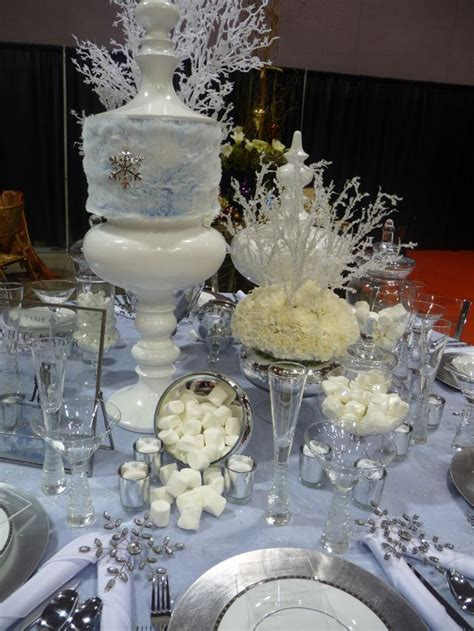 winter decorations for winter table setting decor
