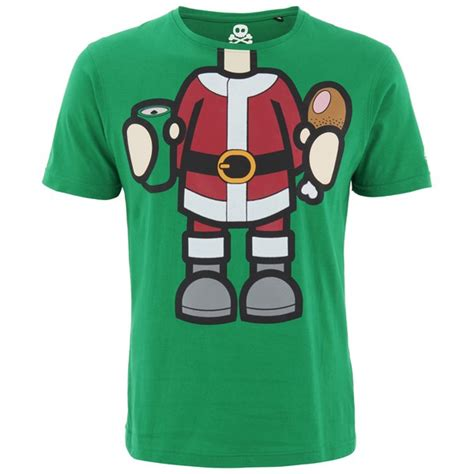 T Shirt Santa Syndicate Green Limited xplicit s bad santa t shirt green clothing zavvi